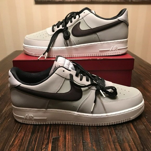 Air Force 1 07 Leather Wolf Grey Size